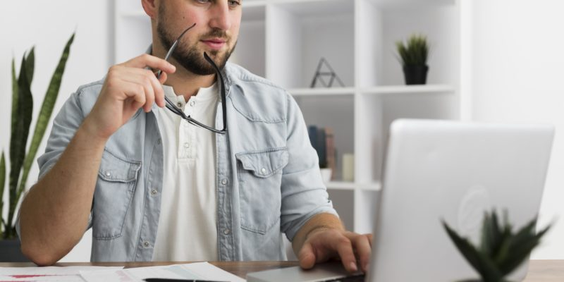 portrait-of-casual-male-working-from-home